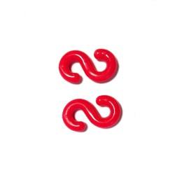 Gancho conector cadena 8mm rojo