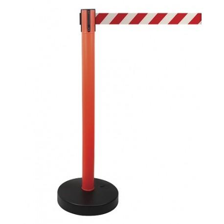 Poste plástico con cinta extensible 2m y base rellenable