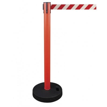 Poste plástico con cinta extensible 2 metros y base PVC