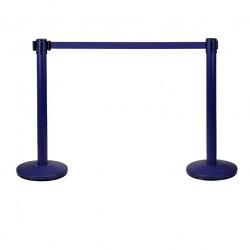 Juego de poste separador azul con cinta azul hegaxonal